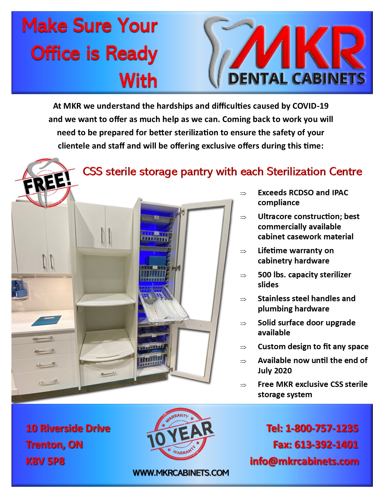Make Sure Your Office Is Ready With MKR Dental Cabinets